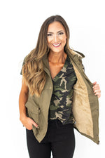 Faux Fur Lined Hooded Vest