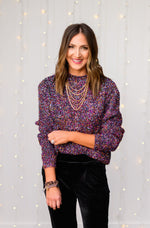 multi-color-lurex-pullover-sweater-velvet-joggers-velvet-trousers-layered-gold-necklace-glass-beaded-bracelets-holiday-launch-holiday-party-outfits-holiday-chic-shop-style-your-senses-by-mallory-fitzsimmons
