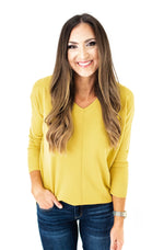 Gold Super Soft Hi Low Tunic Sweater