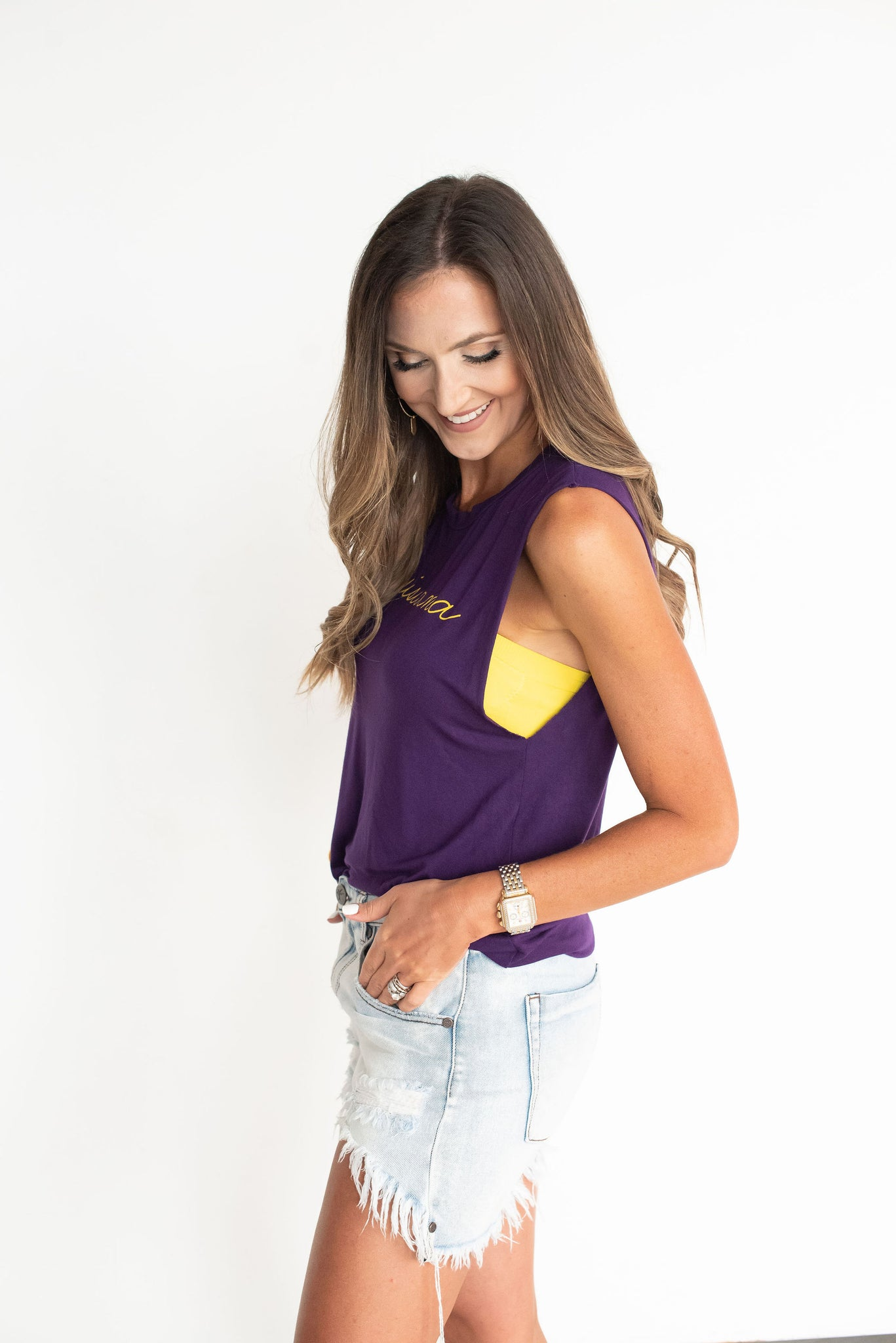 Purple Louisiana Game Day Tank