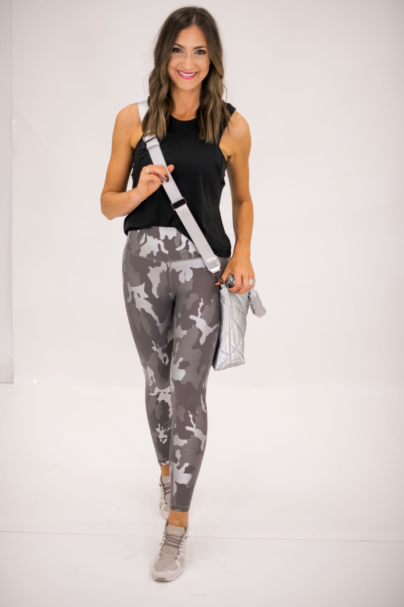 Silver Foil Camo Leggings