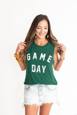 Green Gameday Tank, UNT tank, north texas tank, baylor tank, oregon tank, college tank, game day tank, green game day tank, green college tank, green college tee, style your senses, Big 12, tailgate outfit