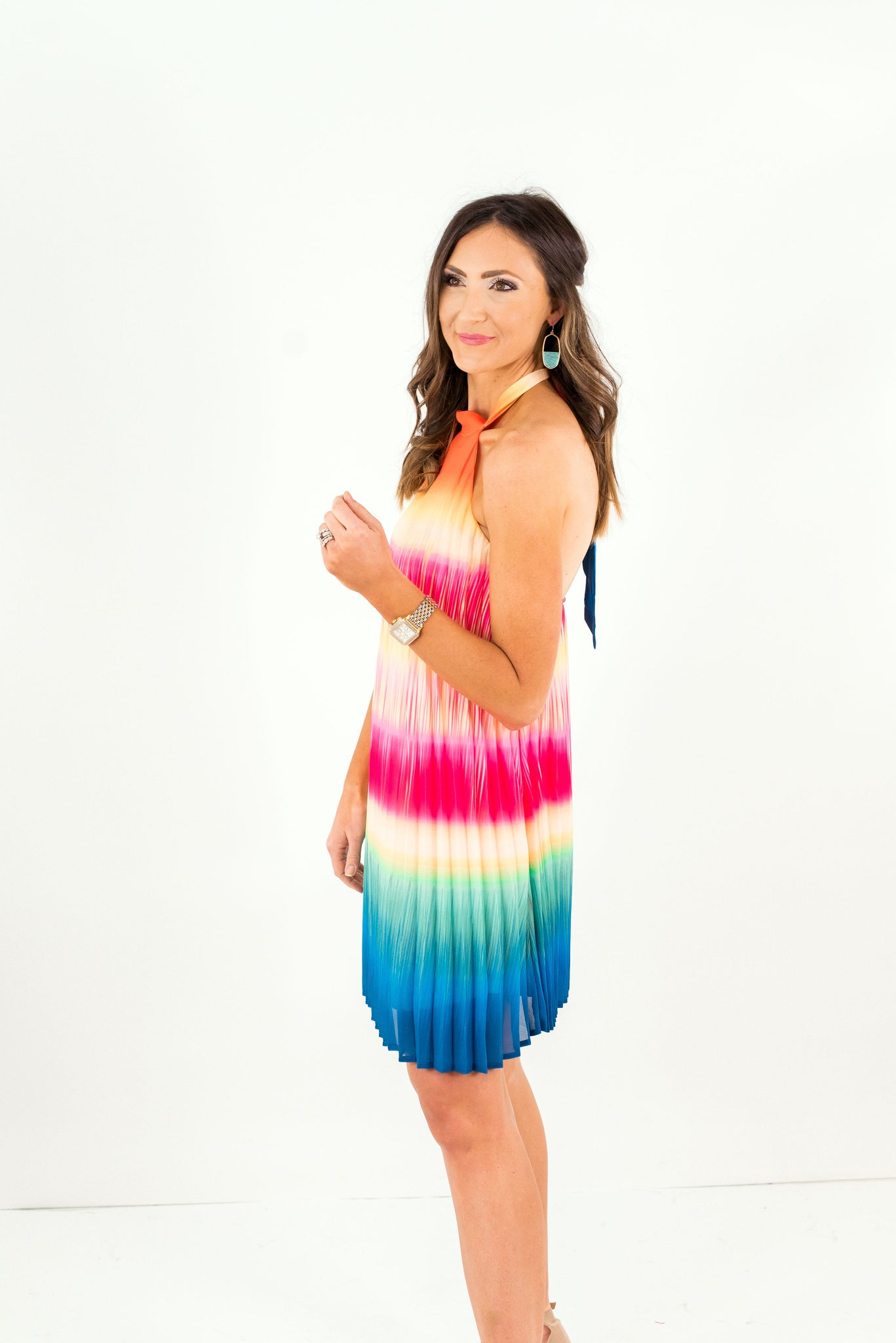Tie Dye Halter Dress *FINAL SALE*