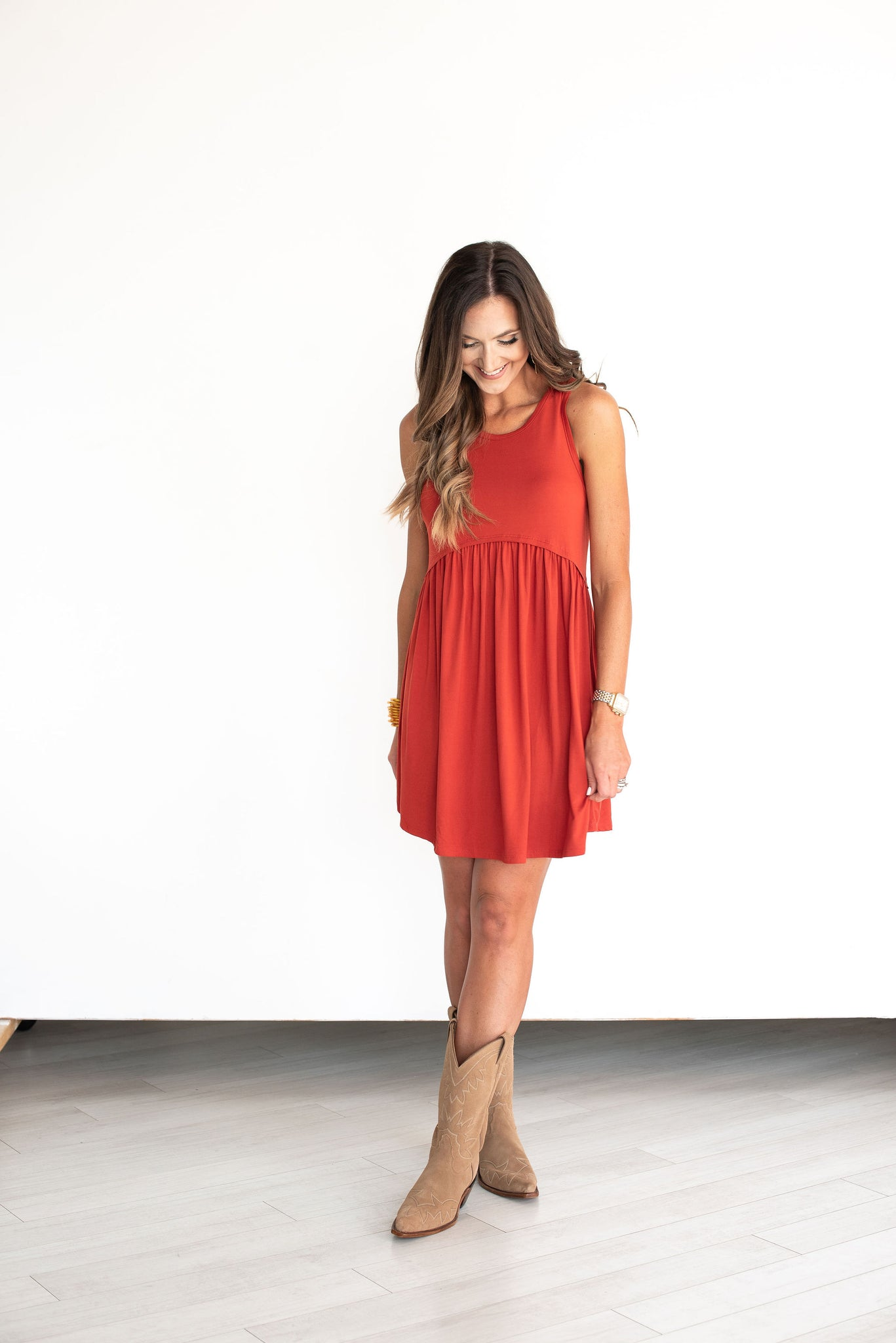 Orange Tank Knit Dress