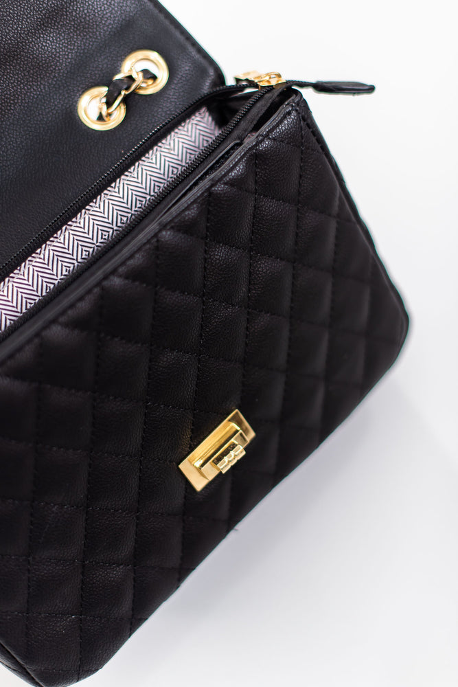 shop-style-your-senses-black-quilted-purse-handbag-chanel-dupe-holiday-2019