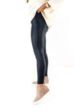 Black High Waisted Pebbled Leggings