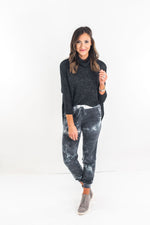 Grey Tie Dye French Terry Joggers