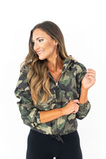 Camo Wind Breaker Bomber Jacket