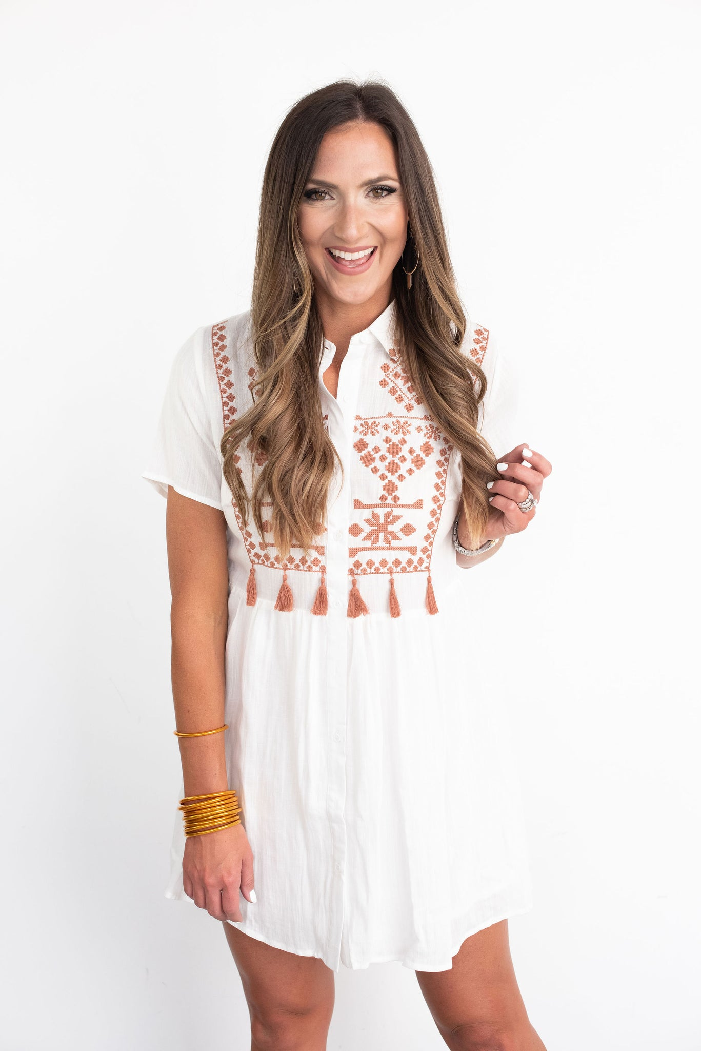 Ivory Embroidered Dress