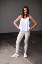white crossbar flowy tank, workout wear, affordable athleisure, shop style your senses by mallory fitzsimmons
