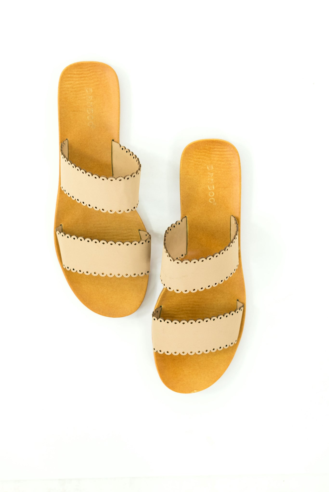 Nude Scalloped Edge Slides *FINAL SALE*