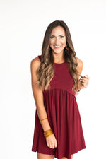 Maroon Tank Knit Dress