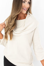 off the shoulder sweater, tunic sweater, ivory sweater, sweater with leggings, style your senses, fall style, style blogger, online boutique, mallory fitzsimmons