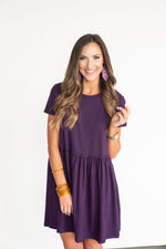 Purple Babydoll Dress