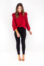 shop-style-your-senses-by-mallory-fitzimmons-holiday-cheer-womens-long-sleeve-cranberry-lace-ruffle-shoulder-party-festive-christmas-holiday-top-2019