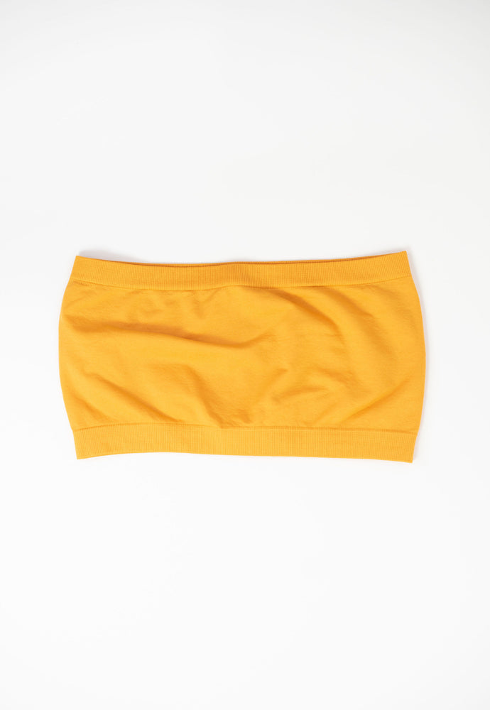 bandeau, seamless bandeau, yellow bandeau, mustard bandeau, game day bandeau, yellow game day outfit, yellow tail gate outfit, game day accessories, style your senses, SEC, Big Ten, Big 12
