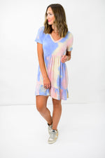 tie dye dress, comfy dress, comfortable tie dye dress, casual dress, style your senses, shop style your senses, mallory fitzsimmons