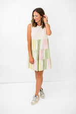 Muted Tie Dye Tiered Dress w/ Tank Top