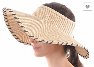 Load image into Gallery viewer, Straw Roll Up Beach Visor *FINAL SALE*