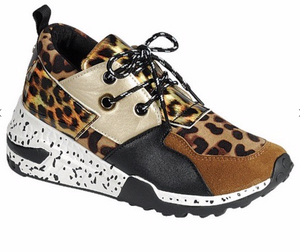 Neutral Tones and Animal Print Platform Sneakers *FINAL SALE*
