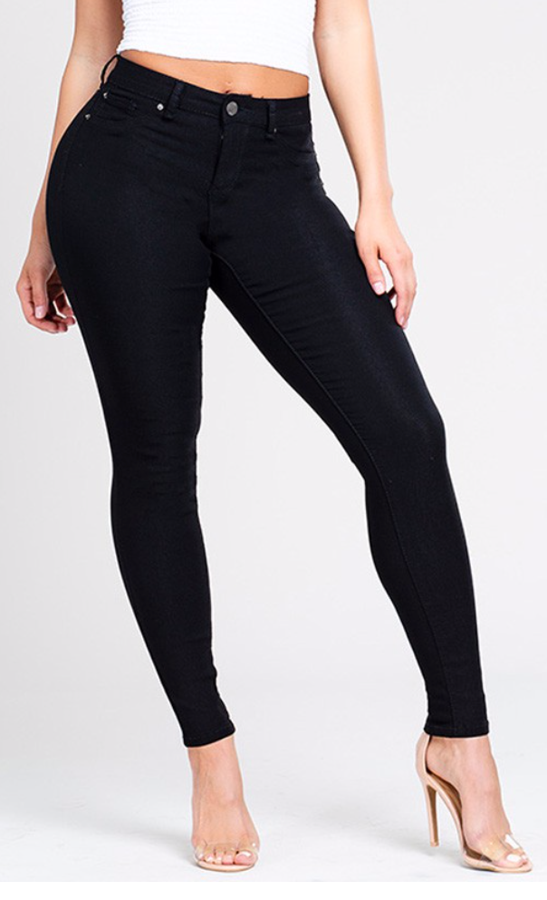 Load image into Gallery viewer, Black Super Stretchy Jeggings