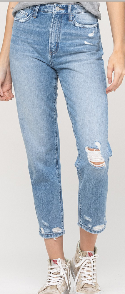 medium washed distressed mom jeans, spring jeans, mom style, fresh start, spring outfits, shop style your senses by Mallory Fitzsimmons