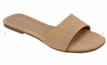 Tan Simple Slide Sandal