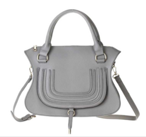Load image into Gallery viewer, Grey Whipstitch Saddle Bag