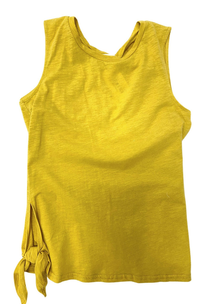 Load image into Gallery viewer, Mustard Sleeveless Top w/ Side Slits *FINAL SALE*