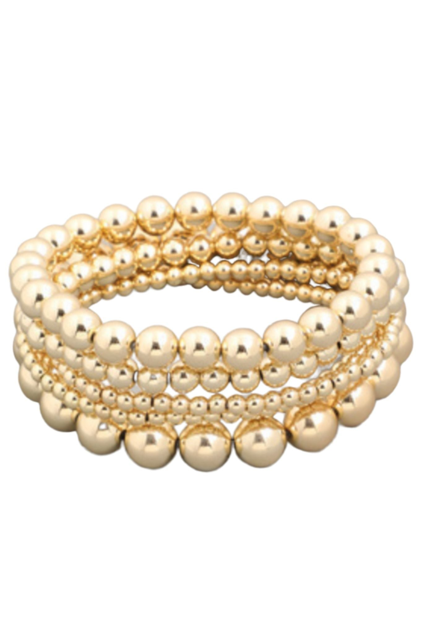 Signature Gold Bead Bracelet Set