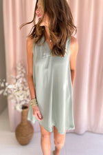 sage v neck sleeveless dress, spring dresses, affordable style, shop style your senses by mallory fitzsimmons