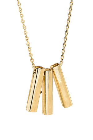 Delicate Gold Triple Bar Necklace