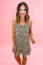 taupe animal print cami dress, spring dresses, affordable style, shop style your senses by mallory fitzsimmons