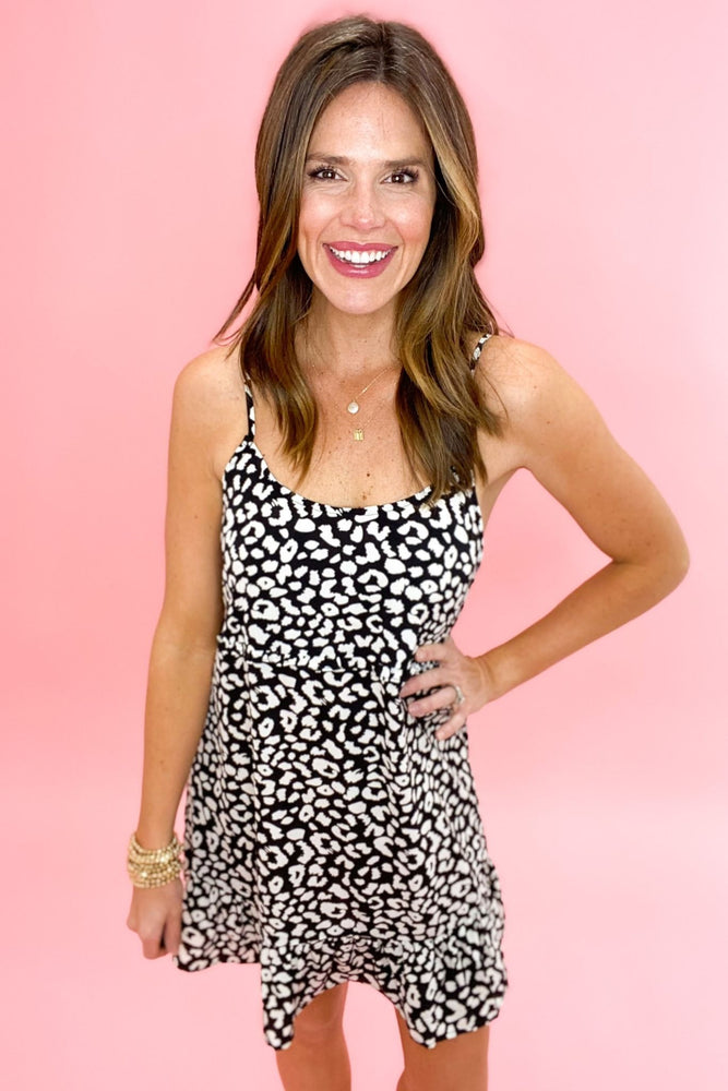 black animal print cami dress, spring dresses, affordable style, shop style your senses by mallory fitzsimmons