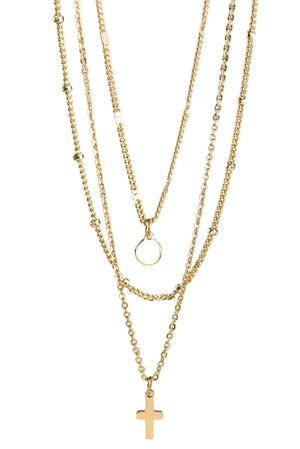 Triple-Layer-Gold-Necklace-with-Charm-and-cross-affordable-accessories-trendy-jewelry-shop-style-your-senses-by-mallory-fitzsimmons