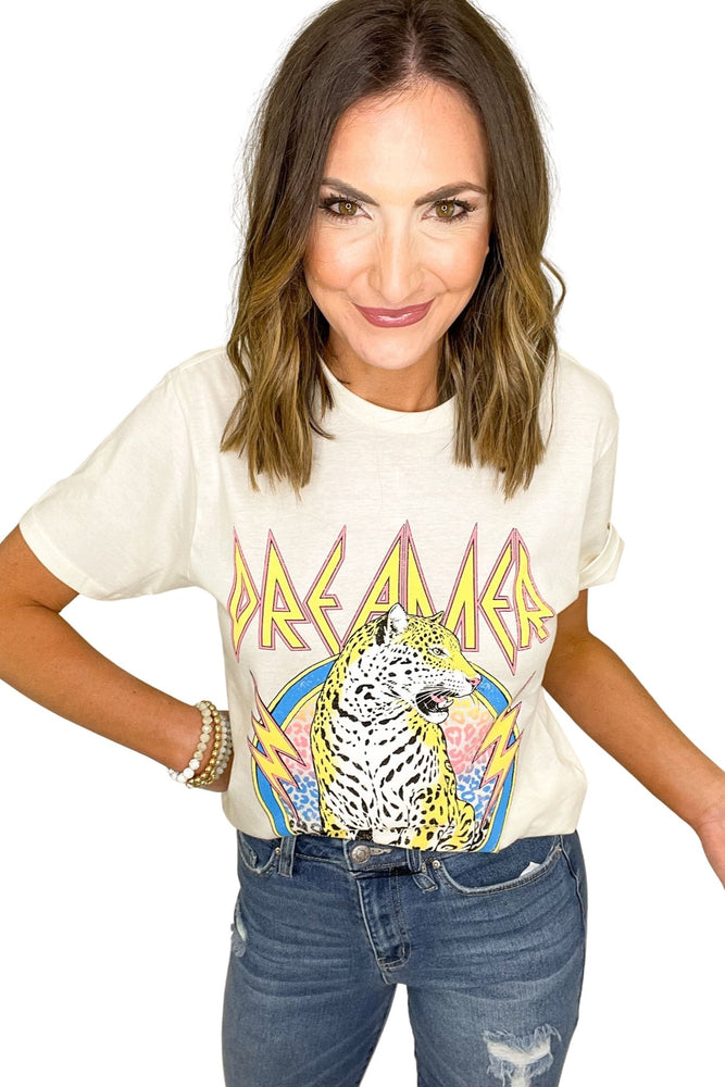 ivory dreamer graphic tee, distressed jeans, band tees, shop style your senses by mallory fitzsimmons