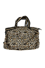 Animal Print Sequin Weekender Bag