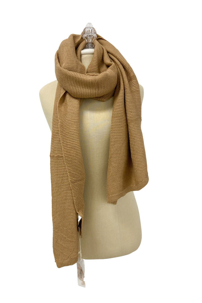 Taupe Soft Knit Scarf