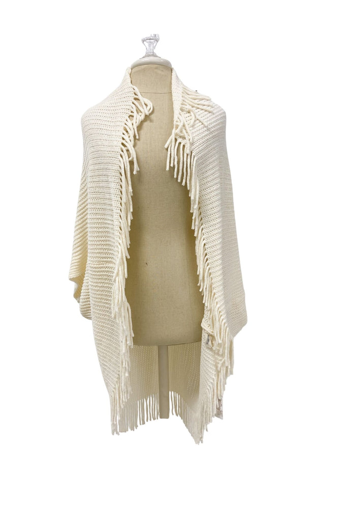 Load image into Gallery viewer, Ivory Chenille Cardigan w/ Fringe *FINAL SALE*
