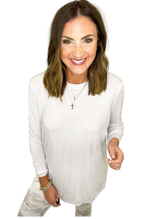 white side slit tunic, white camo leggings, spring tops, shop style your senses by mallory fitzsimmons