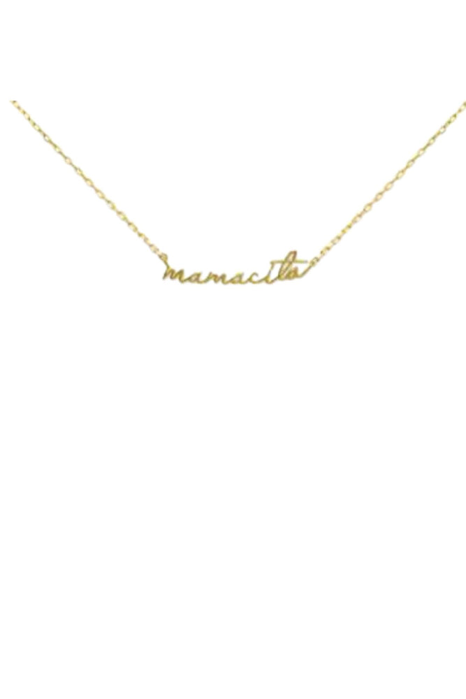 gold mamacita script necklace, mama necklace, mothers day gift, trendy jewelry, affordable accessories, shop style your senses by mallory fitzsimmons