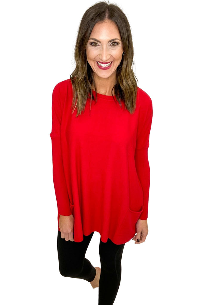 Scarlet Oversized Sweater w/ Pockets
