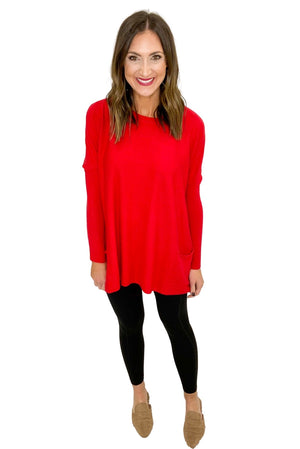 Load image into Gallery viewer, Scarlet Oversized Sweater w/ Pockets