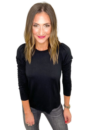 black-rouched-long-sleeve-top-elevated-basic-spring-outfits-new-arrivals-mom-style-shop-style-your-senses-by-mallory-fitzsimmons