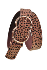 Light Brown Spotted Belt w/ Gold Buckle