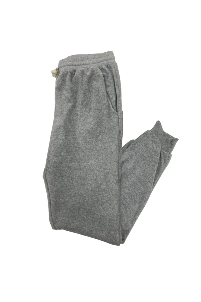 Heather Grey Velour Joggers