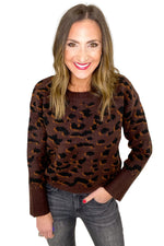 Mocha Animal Print Sweater