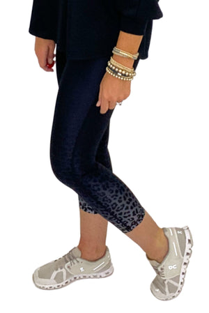 Animal Print Ombre Highwaisted Capri Leggings