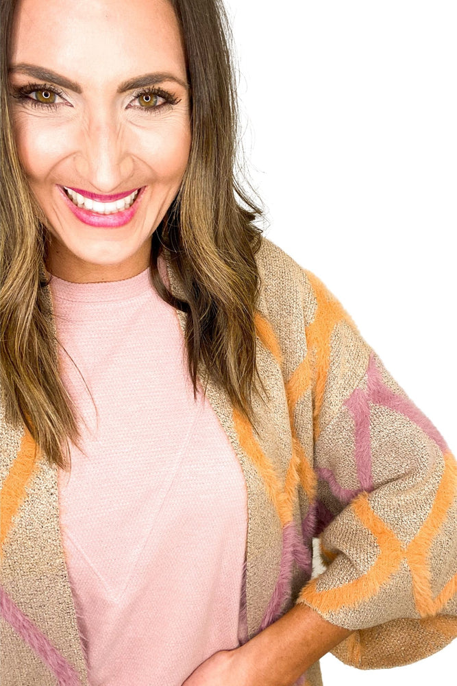 orange-and-pink-argyle-print-cardigan-spring-outfits-new-arrivals-mom-style-shop-style-your-senses-by-mallory-fitzsimmons
