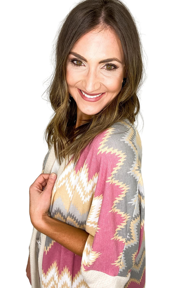 Load image into Gallery viewer, multi-color-zig-zag-print-long-cardigan-spring-outfits-new-arrivals-mom-style-shop-style-your-senses-by-mallory-fitzsimmons
